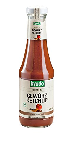 Byodo Gewürz Ketchup, 3er Pack (3 x 500 ml Glas) - Bio