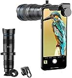 ZUOAO Kits de Lentes para cámara de teléfono, telescopio monocular HD, Lente telefoto 28X con Obturador, iPhone Compatible 11 X 8 7 6 Plus X XS XR Samsung Galaxy/Smartphone
