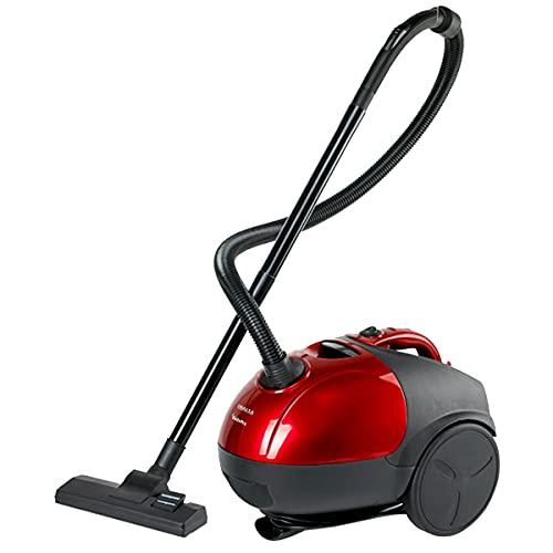 Inalsa Aspirapolvere Gusto Pro-1200W con potente funzione di soffiatore e sacchetto di polvere riutilizzabile, (rosso/nero)