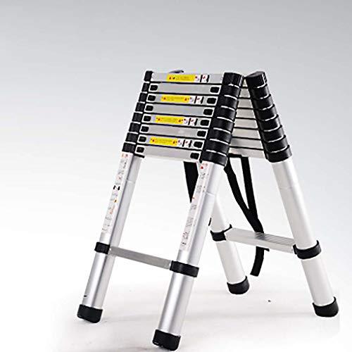 Telescopische Aluminium Ladder, Uitbreiding Ladder Vouwen Multifunctionele trapladder Uitschuifbare Draagbare Ladder 2.6+2.6m B3
