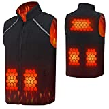 Photo de rocboc Electric Vest, Washable USB Powered Heated Winter Heated Vest Warm Winter Vest with 3 Levels Adjustable Temperature.