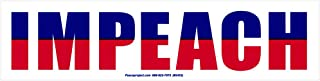 Peace Resource Project Impeach - Magnetic Bumper Sticker/Decal Magnet (9.25