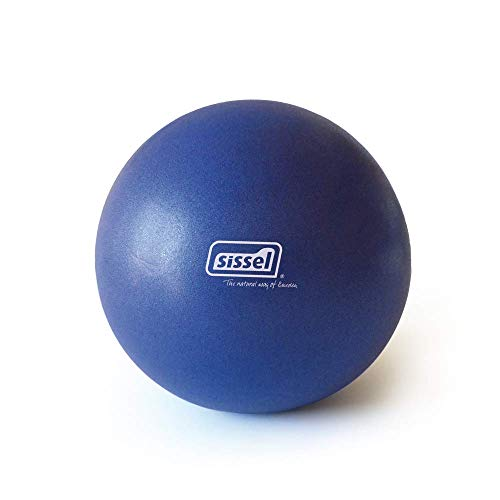 SISSEL Pilates Soft Ball, Yoga Gymnastik Übung Therapie Workout, 22cm, blau