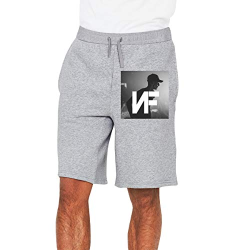 Mens NF Rapper Logo Logo Print Basic Classic Baseball Shirt Pant Compression Sport Short Pants for Men Gray M