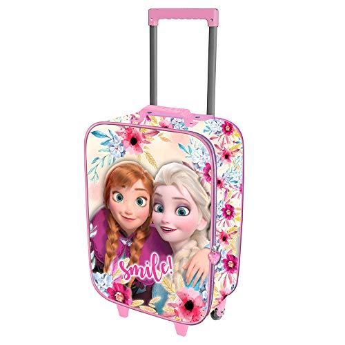 Karactermania Frozen Smile-maleta Trolley Soft 3d Valigia per bambini 52 centimeters 23 Multicolore (Multicolor)