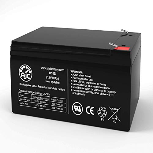 Batterie Emergi-Lite 120 12V 10Ah Lampe de Secours - Ce Produit est Un Article de Remplacement de la Marque AJC®