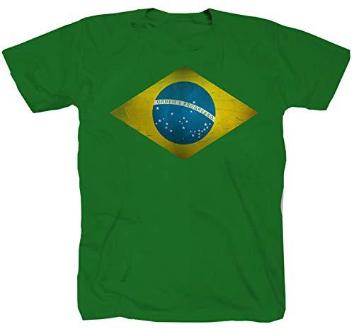 Shirtzshop - Camiseta de manga corta, diseño de Rio de Janeiro de Brasil Kelly Green S