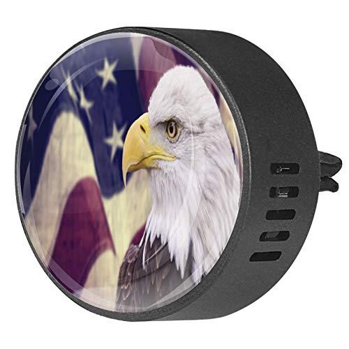 2 Stück Aromatherapie Diffusor Auto ätherisches Öl Diffusor Vent Clip Vintage amerikanische Flagge mit Adler