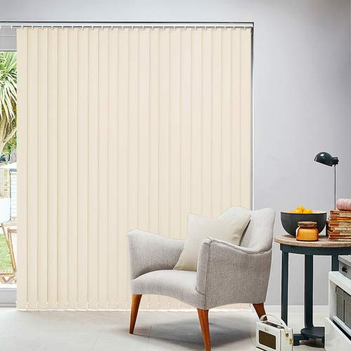 MSR 116 Vertical Blinds/Curtains and Shades for Home Furnishing(Balcony,Kitchen,Bedroom,Bathroom etc) Cream 12 * 12