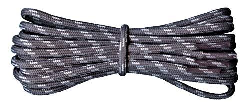 Fabmania Starke Schnürsenkel für Wanderschuhe - dunkelgrau - hellgrau - Länge 110 cm…