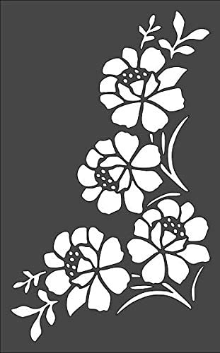 1- 7x11 inch Custom Cut Stencil Arts and PE-89 Crafts Max All items in the store 59% OFF Flower