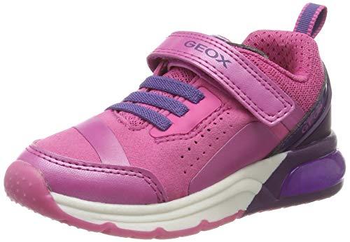 Geox Mädchen J SPACECLUB Girl C Sneaker, Pink (Fuchsia/Violet C8370), 36 EU