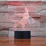 Pokemon Go Glaceon Figure Lampe De Nuit Pour Enfants Led Capteur Tactile Batterie Veilleuse Festival Cadeau Chambre Veilleuse Glaceon