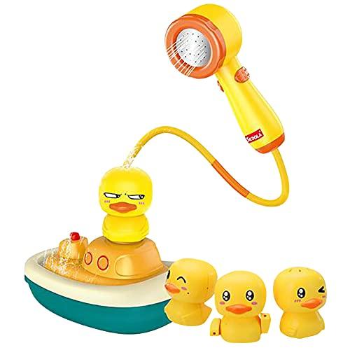 Rpporm Badewannenspielzeug Elektrischer Duck Badespielzeug Dusche Duck Wasserspielzeug Spielzeug Badewanne Baby Badespielzeug Duschspielzeug Geschenk für Kleinkinder Kinder
