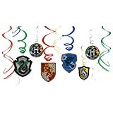 amscan Harry Potter Hanging Swirl Decorations- 12 pcs., Multi