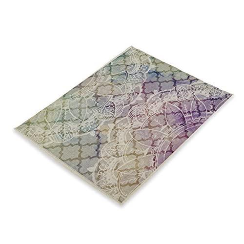 MissW Manteles Individuales Impresos En Serie Geométrica Irregular Muebles Protectores Engrosados Tapetes Impermeables Adecuados para Restaurantes Cafés
