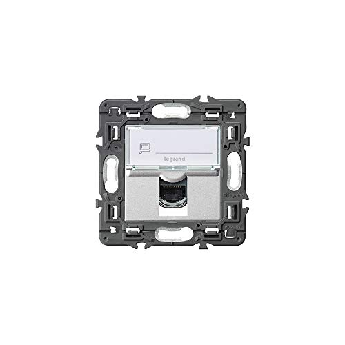 Toma RJ45 UTP categoría 6, serie valena next, color aluminio (Legrand 741375)