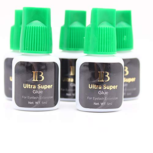 100 Bottles Eyelash Extensions Ibeauty Ultra Super Glue 5ml, Semi-Permanent Eyelash Extension Glue, 1-2 Sec Drying Time, Keep 5-6 Weeks
