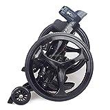 Youpin Patines de goma para deportes al aire libre, 16 pulgadas, 2 ruedas grandes, para patinaje en línea, tamaño 34-43 cm, Freeline TF-02 (color: negro)