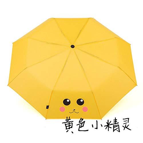 Yukie Fashion Cartoon bedruckter Regenschirm Kinder Kinder Regenschirm 8K faltbarer Regenschirm Jungen Mädchen Outdoor Walking Regenschirm tragbarer Regenschirm 9