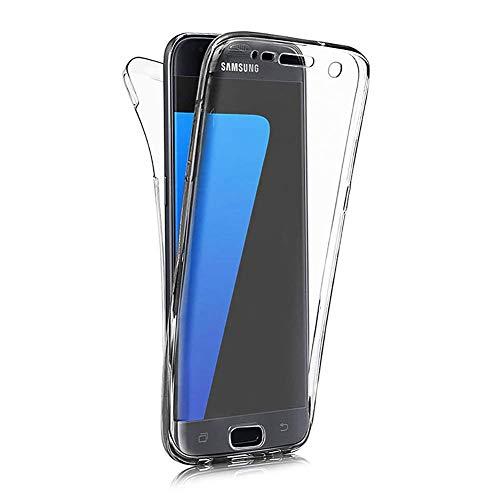 Homikon 360 grados Fullbody funda de silicona transparente para teléfono móvil de cuerpo completo, protección delantera y trasera completa, funda compatible con Samsung Galaxy A41, transparente