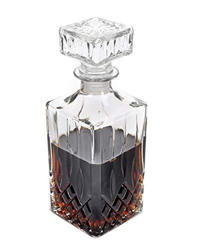 Takestop - Botella de cristal con tapón transparente de 1000 ml para whisky, limoncello, meloncelo, nogal, melancelo, licor, vino