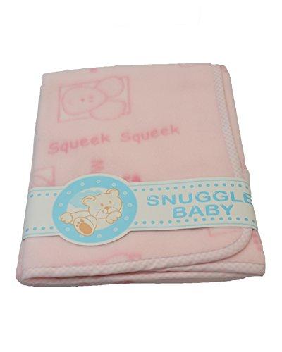 Snuggle Baby Couverture Landau (Squeek Squeek Imprimé Rose) 624