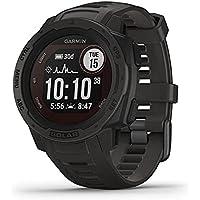 Garmin Instinct Solar GPS and Fitness Smartwatch (Graphite)