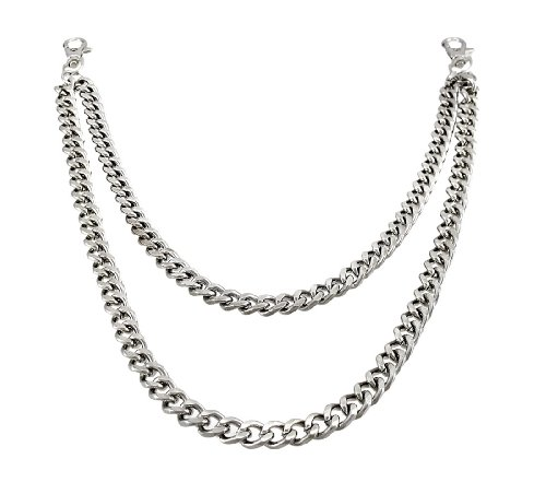 Heavy Chrome Plated Double Strand Link Wallet Chain