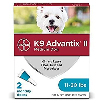 K9 Advantix II Flea and Tick Prevention for Medium Dogs 2-Pack 11-20 Pounds