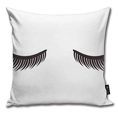 AlineAline Throw Pillow Covers Eyelashes On White Background Throw Pillow Cases Decorative Cushion Covers Pillowcases Square Pillow Covers 18x18inch