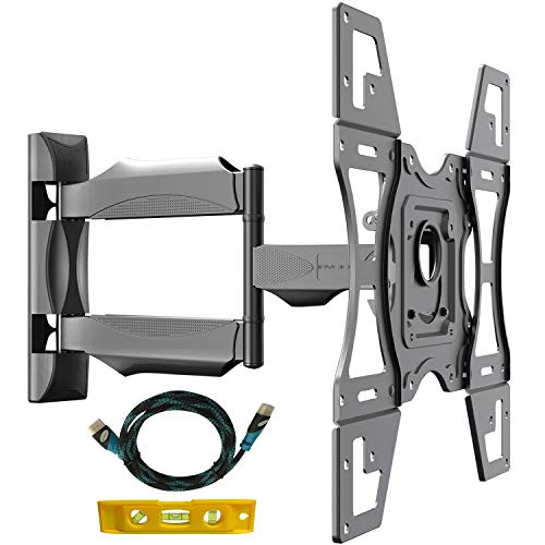 Invision TV Wandhalterung, Ultrastarker Schwenkbare Neigbare, TV Halterung für 26-60 Zoll Flache und Geschwungen Fernseher oder Monitore, Max Gewichtskapazität 40 kg, Max. VESA 400x400 mm (HDTV-L)