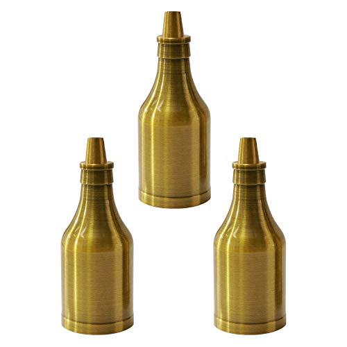 Portalampada E27,E27 Vintage Portalampada, Edison Retro Lampada a Sospensione, Porta Lampadina E27, Ottone Vintage, Forma di Bottiglia, Adatto per lampadario, lampadina Edison, 3 pezzi, PEBA