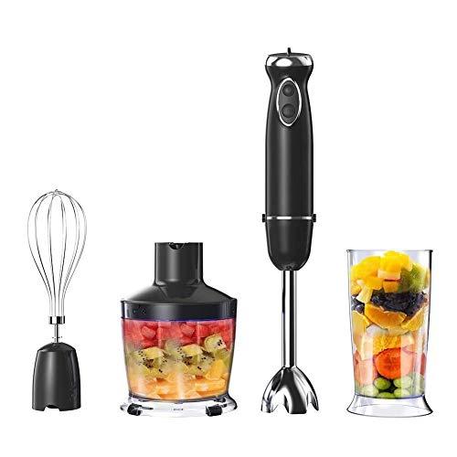 YJXD Frullatore a Immersione, 800W 5-Speed 4-in-1 Set frullatore ad Immersione Elettrico Cucina Portatile Food Processor Mixer spremiagrumi