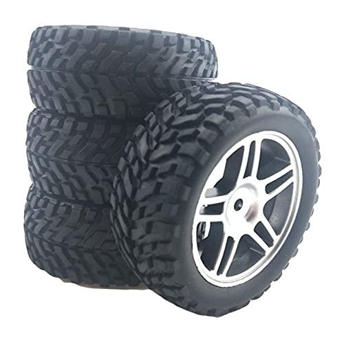 freneci 4 Llantas y neumáticos de 75 mm RC para Wltoys 144001 124018 124019 Monster Truck RC Rock Crawler vehículos Modelo Buggy