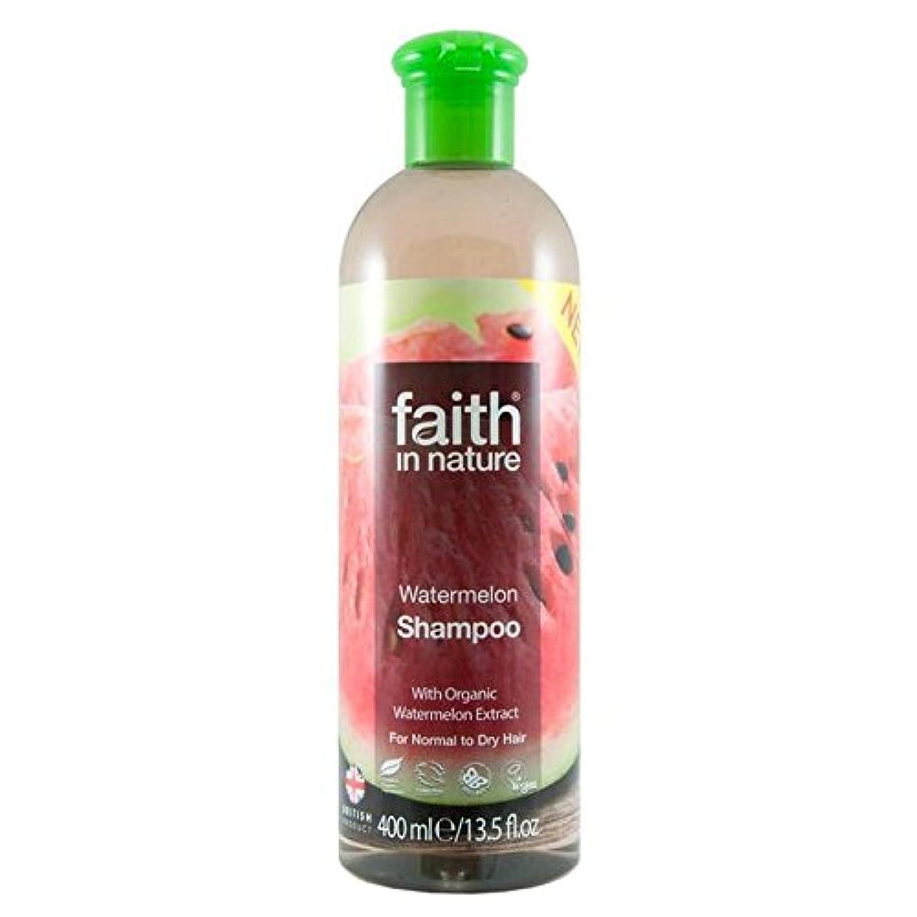 機関おもちゃ瞑想的Faith in Nature Watermelon Shampoo 400ml (Pack of 2) - (Faith In Nature) 自然スイカのシャンプー400ミリリットルの信仰 (x2) [並行輸入品]
