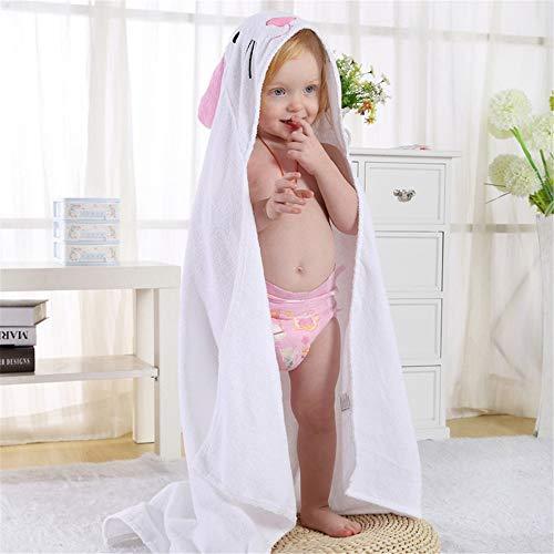 Shangfu Suministros de baño Cara con Capucha, Toalla de bebé, algodón, Bata de baño para niños niñas 0-6 años (Color : White)