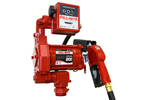 Fill-Rite FR701VA 115V 20GPM Fuel Transfer Pump with Discharge Hose, Automatic Nozzle, & Mechanical Gallon Meter