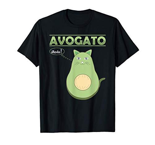 Funny Avogato Kitten Cute Avocado Cat Lover Face sarcastic Camiseta