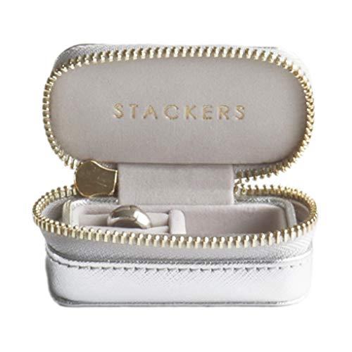 STACKERSLONDONトラベルジュエリーボックスS/スタッカーズTravelBox(シルバー)