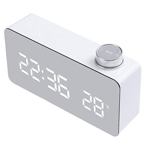 Tutoy Ts-S51 Reloj Despertador Multifunción Termómetro Digital Electrónico con Reloj Snooze Gran Pantalla Led Home Decor Función De Espejo