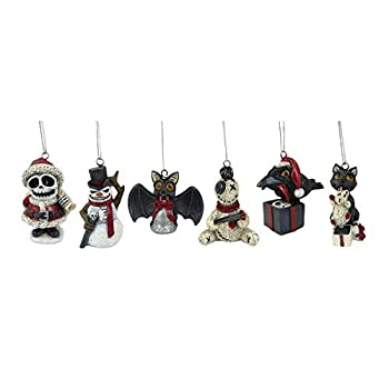 World of Wonders Scary Merry Christmas Halloween and Christmas Tree Ornaments  6 Piece Set  | Christmas Decorations for The Tree | Scary Christmas Decorations - 3.5