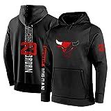 Michael Jordan N. ° 23 Hombres con Capucha, Chicago Bulls Flying Man - Sudadera De Entrenamiento De Baloncesto para Hombres, Chaquetas Y Pantalones Deportivos, Talla C-L