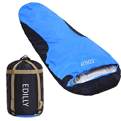 EDILLY Mummy Sleeping Bag, Backpacking Sleeping Bags for Adults and Kids Suitable for Camping, Tearproof and Waterproof, for Hiking Traveling, and Outdoors