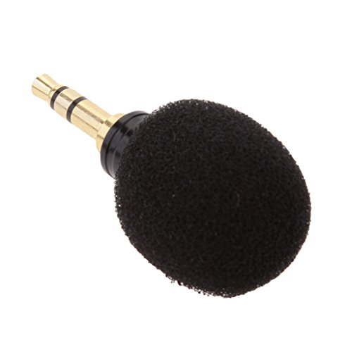 Gazechimp Micrófono Condensador con Jack sin Hilos Mini Enchufe Vocal Compatible con Móvil Inteligente - Negro, 3.5mm enchufe estéreo