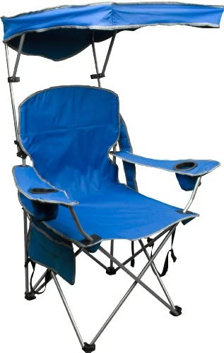 Amazon Com Quik Shade Adjustable Canopy Folding Camp Chair Royal Blue Folding Sports Chairs Sports Outdoors