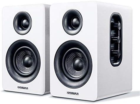 Sanyun SW208 3 Active Bluetooth Bookshelf Speakers 60W Carbon Fiber Speaker Unit aptX Codec product image