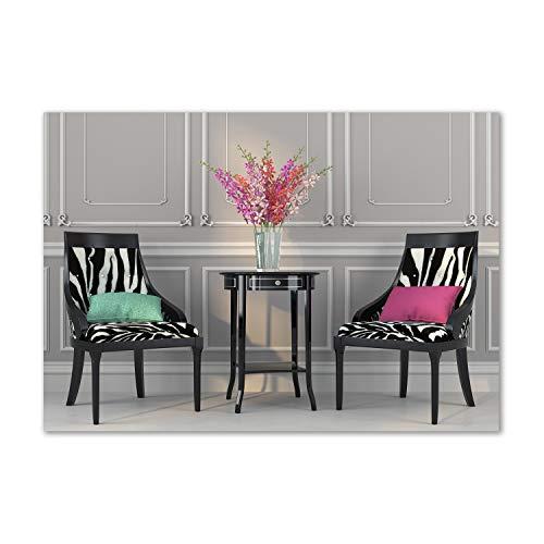 Tulup Acrylglas - Wandkunst - Bild auf Acrylglas Deko Wandbild hinter Kunststoff/Acrylglas Bild - Dekorative Wand für Küche & Wohnzimmer 100 x70 cm - Sonstige - Zwei Stühle - Mehrfarbig