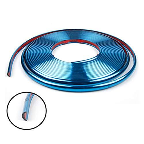 HUAER Pegatinas para rueda de coche, para decoración de neumáticos, para Skoda Superb Octavia A5 2 Fabia Rapid Yeti Citroen C4 C5 C3 Grand (nombre del color: azul)