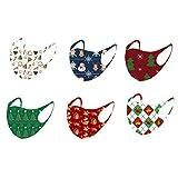 Happyyami 6Pcs Masques de Soie de Glace Masques de Noël pour Adultes Masques...